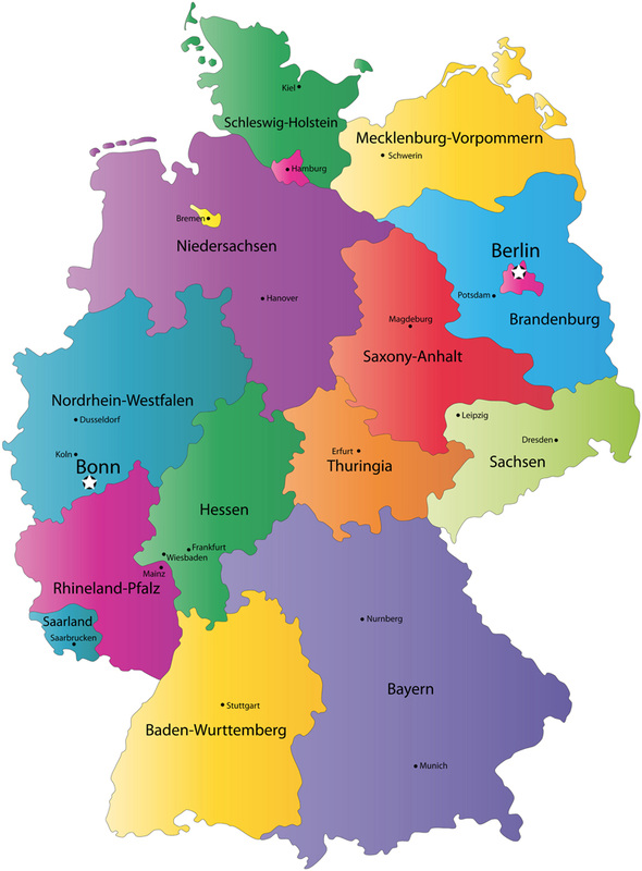 German States Chs Deutsch Year 7 Assignment: Map Of Germany With States And Capitals At Infoasik.co